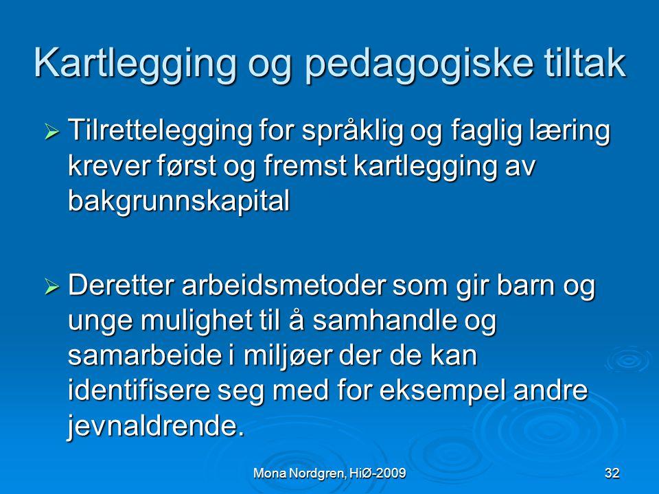 Kartlegging og pedagogiske tiltak