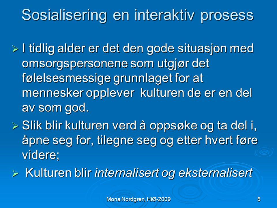 Sosialisering en interaktiv prosess