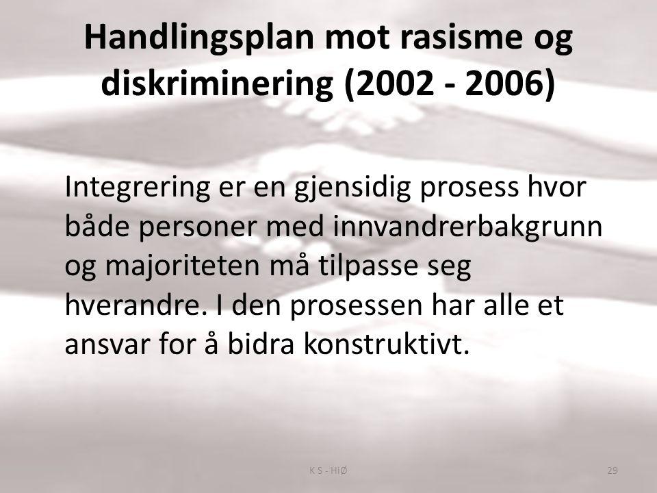 Handlingsplan mot rasisme og diskriminering (2002 - 2006)
