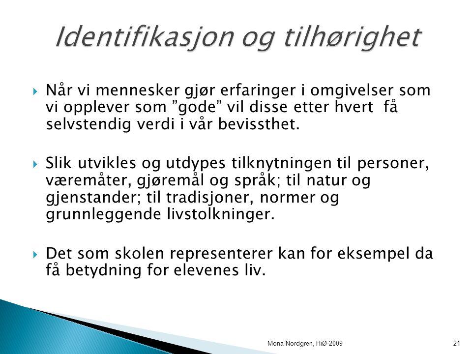 Identifikasjon og tilhørighet