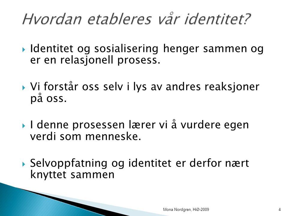 Hvordan etableres vår identitet