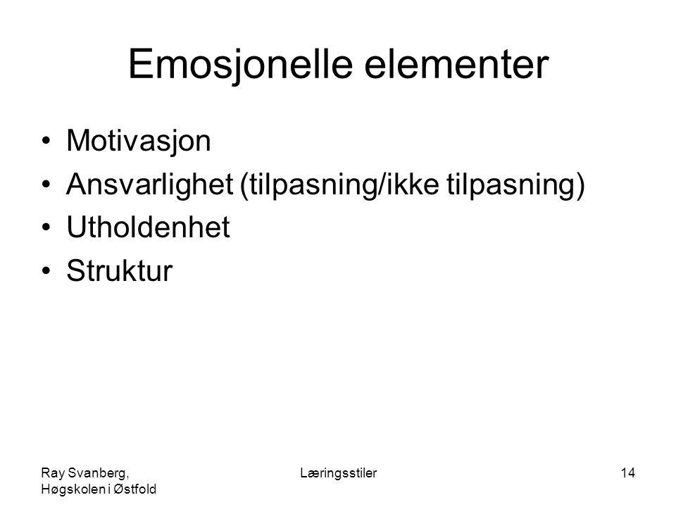 Emosjonelle elementer