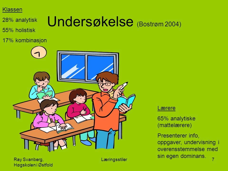 Undersøkelse (Bostrøm 2004)