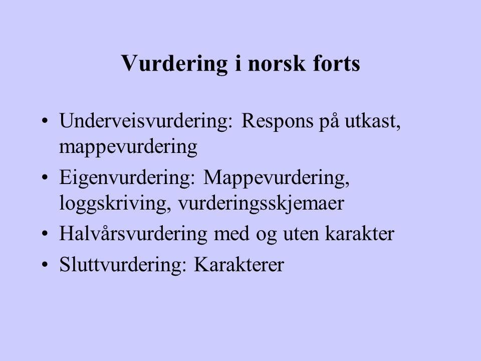 Vurdering i norsk forts