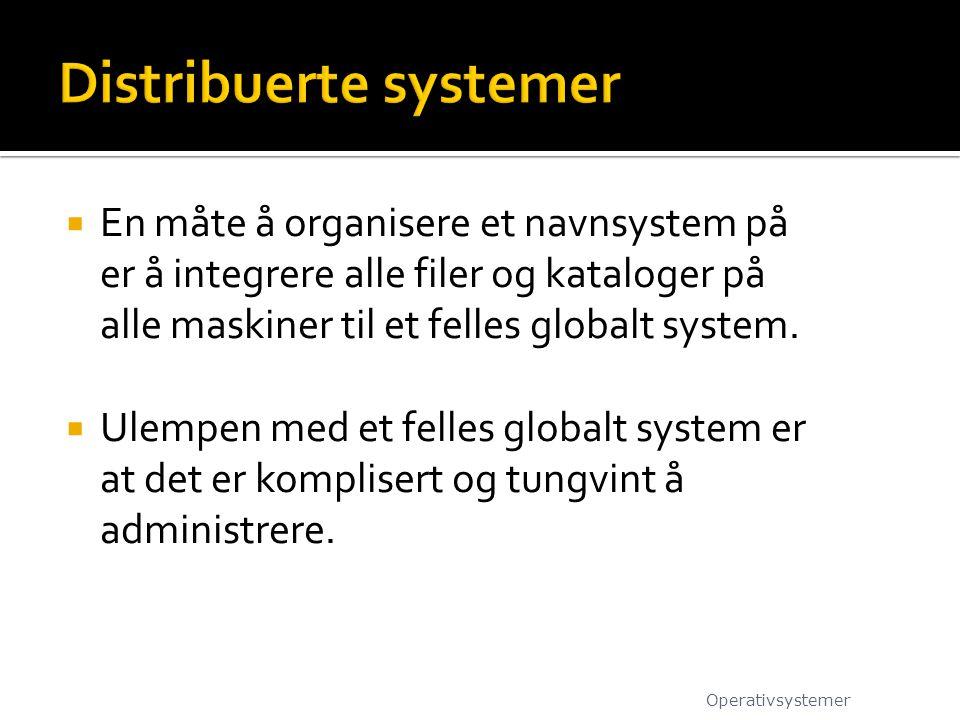 Distribuerte systemer