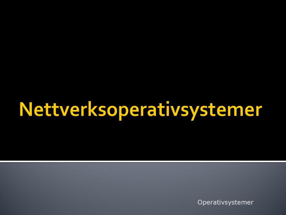 Nettverksoperativsystemer