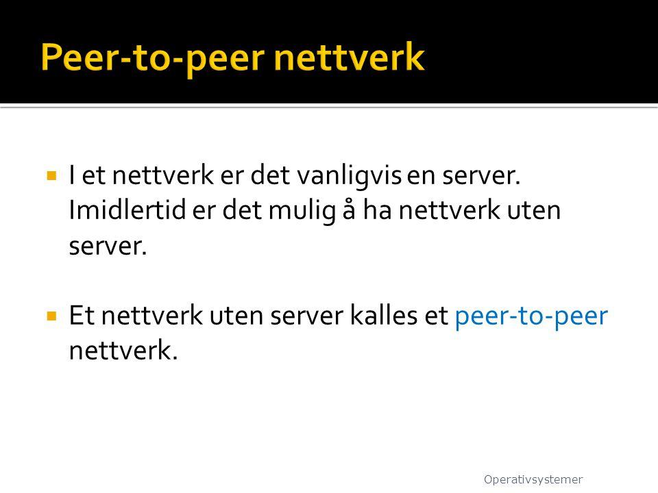 Peer-to-peer nettverk
