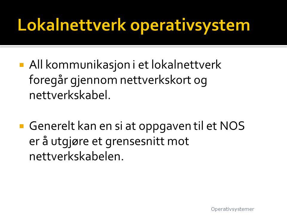 Lokalnettverk operativsystem