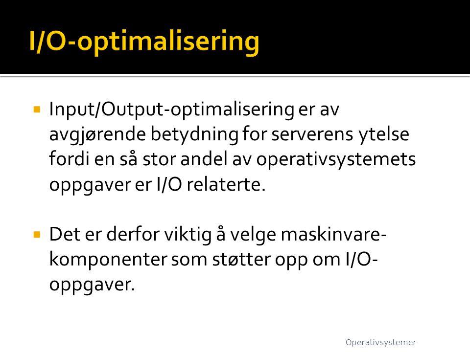 I/O-optimalisering