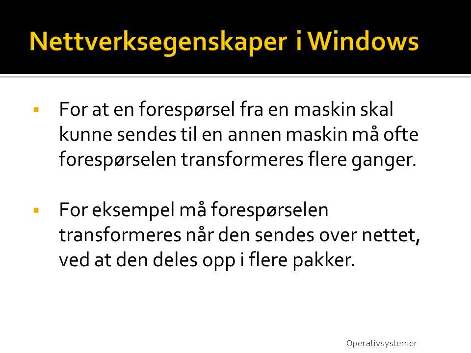 Nettverksegenskaper i Windows