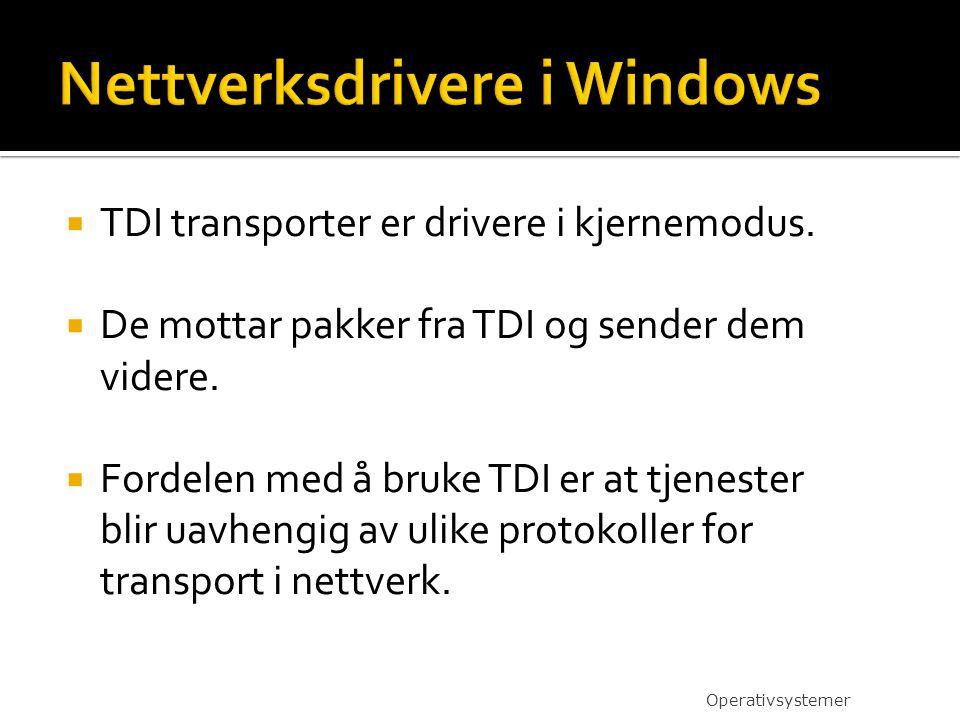 Nettverksdrivere i Windows