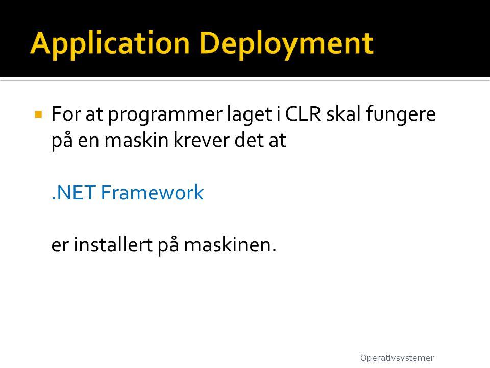Application Deployment