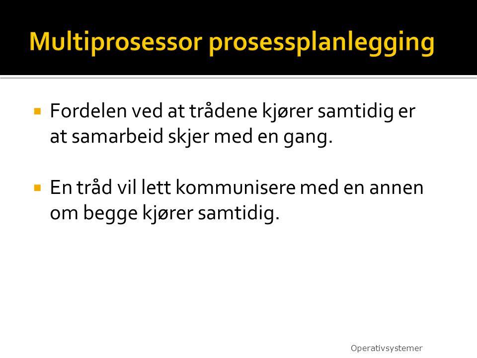 Multiprosessor prosessplanlegging