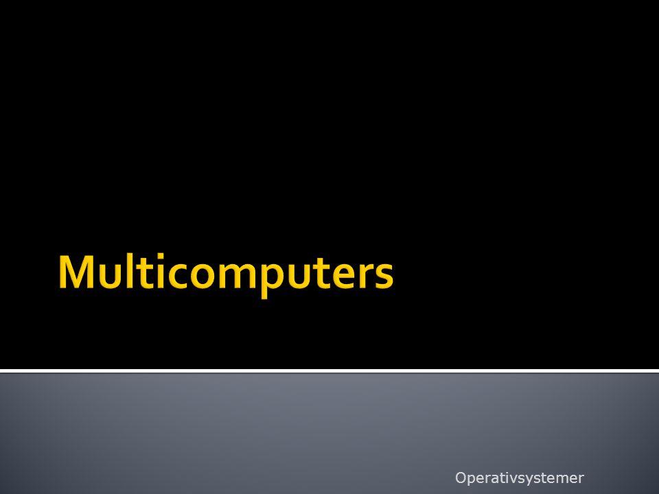 Multicomputers Operativsystemer