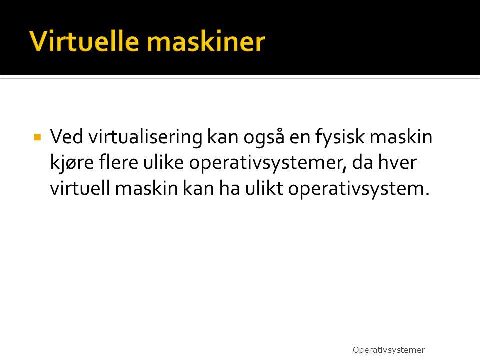 Virtuelle maskiner
