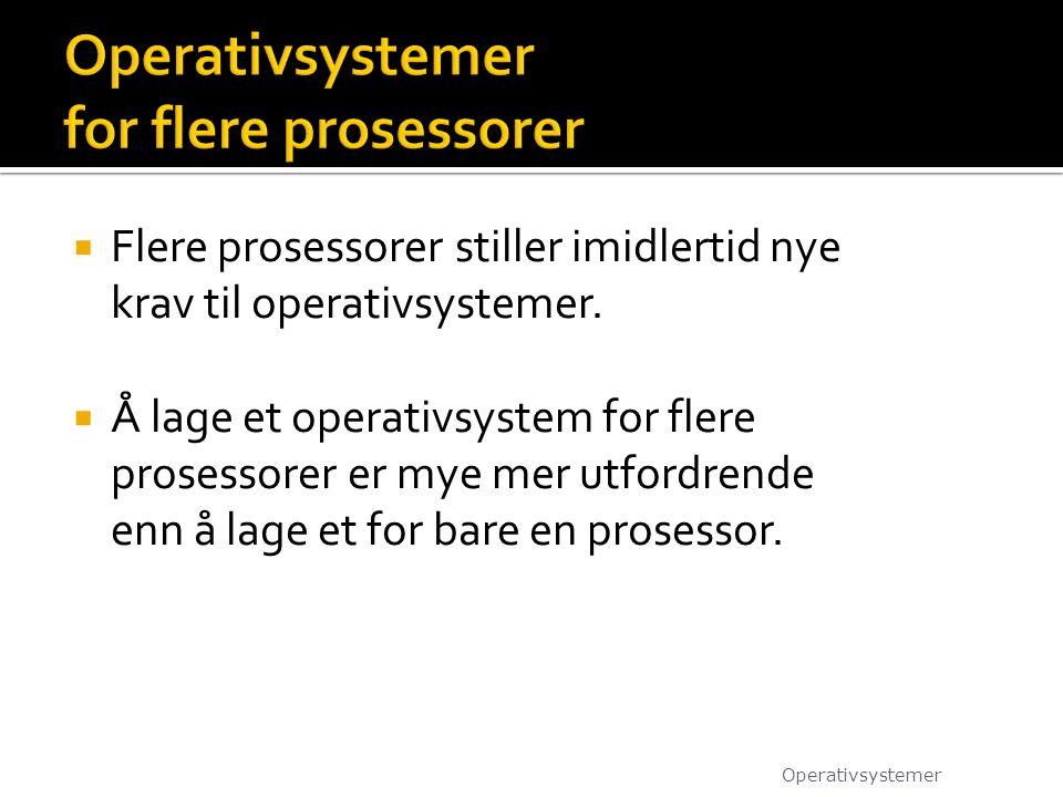 Operativsystemer for flere prosessorer