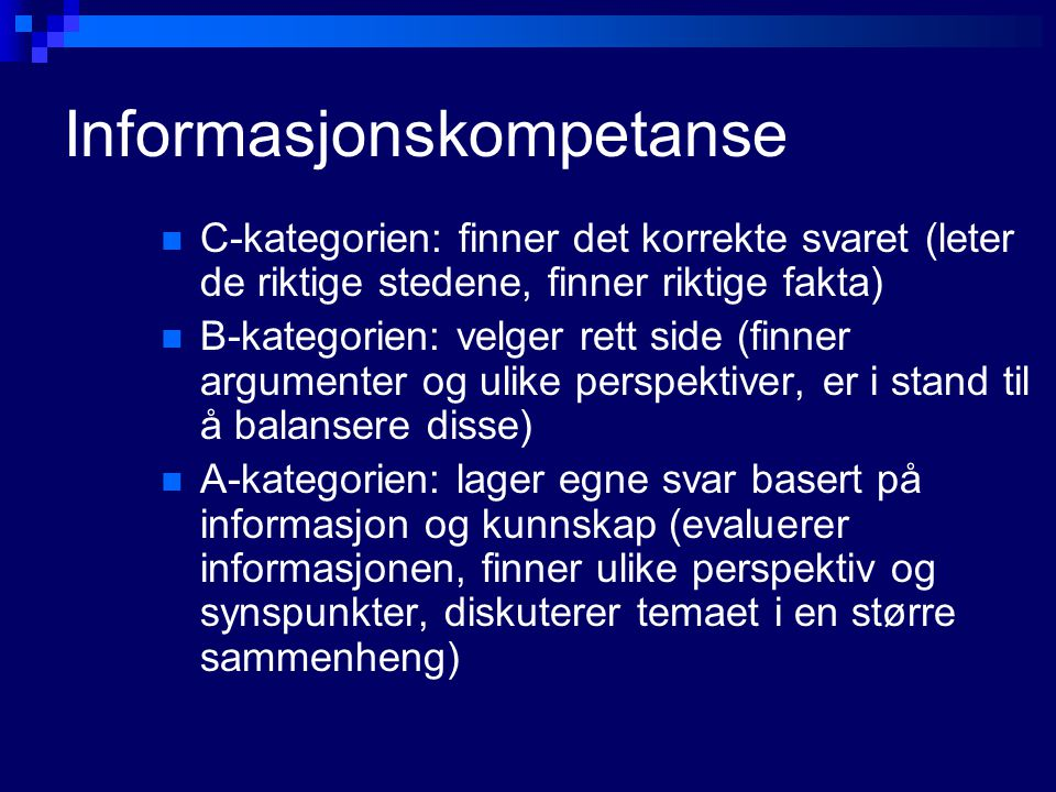 Informasjonskompetanse