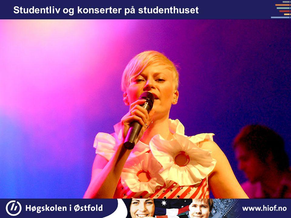 Studentliv og konserter på studenthuset