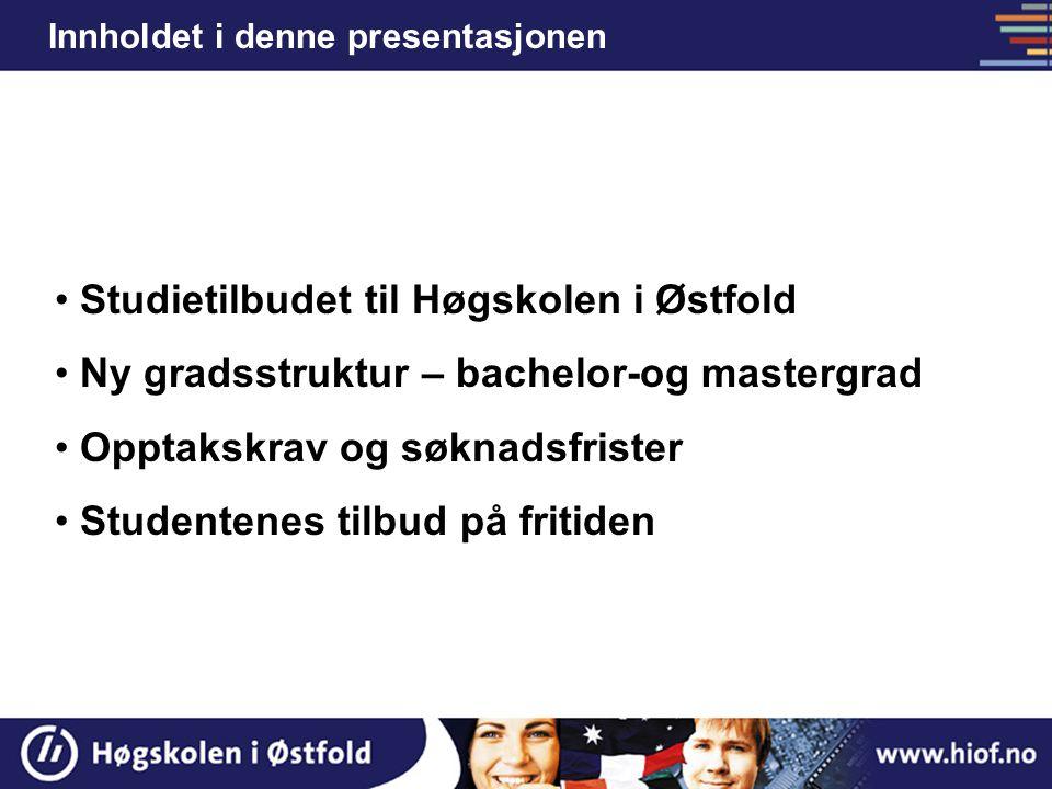 Studietilbudet til Høgskolen i Østfold