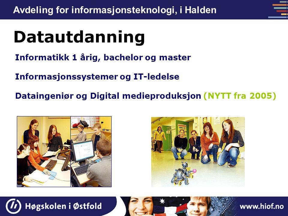 Datautdanning Avdeling for informasjonsteknologi, i Halden