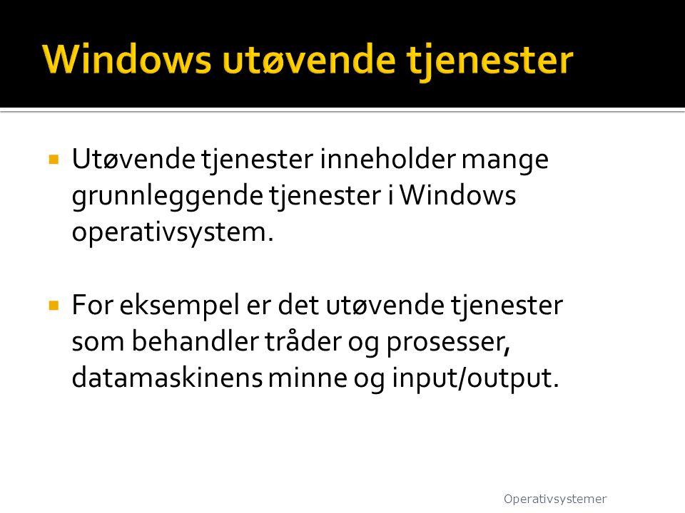 Windows utøvende tjenester