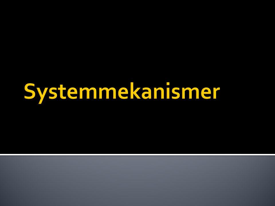 Systemmekanismer