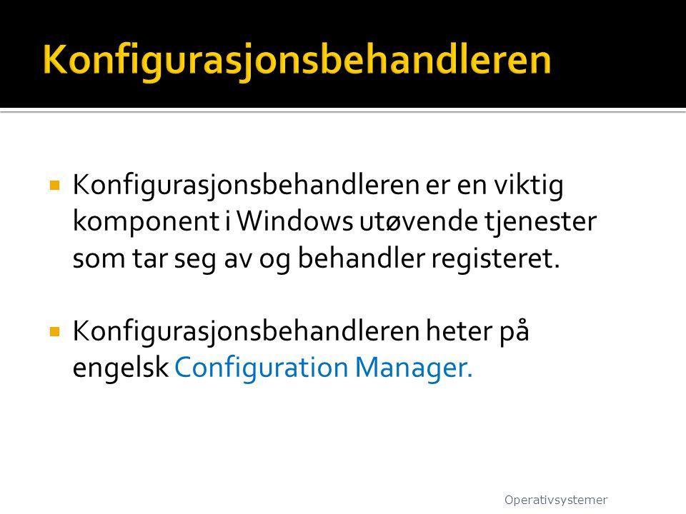 Konfigurasjonsbehandleren