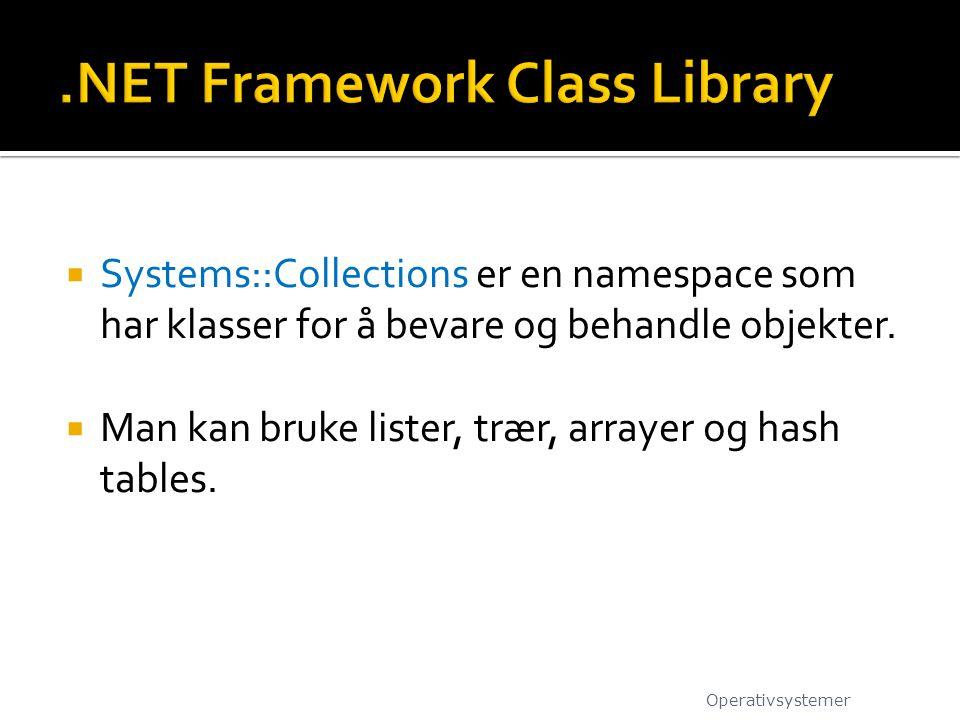 .NET Framework Class Library