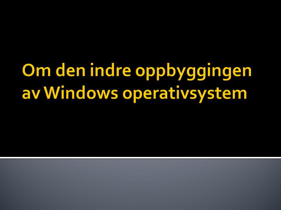 Om den indre oppbyggingen av Windows operativsystem