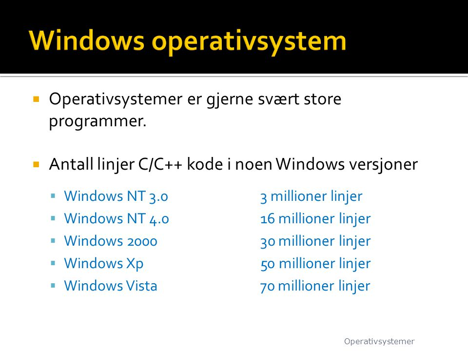 Windows operativsystem