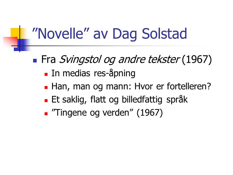 Novelle av Dag Solstad