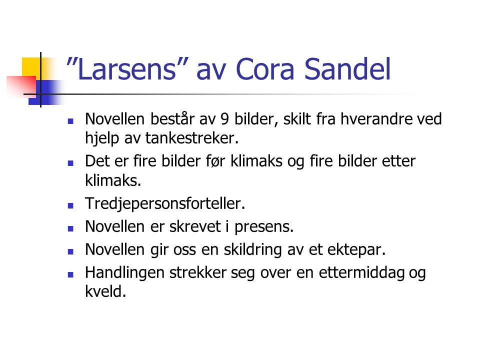 Larsens av Cora Sandel