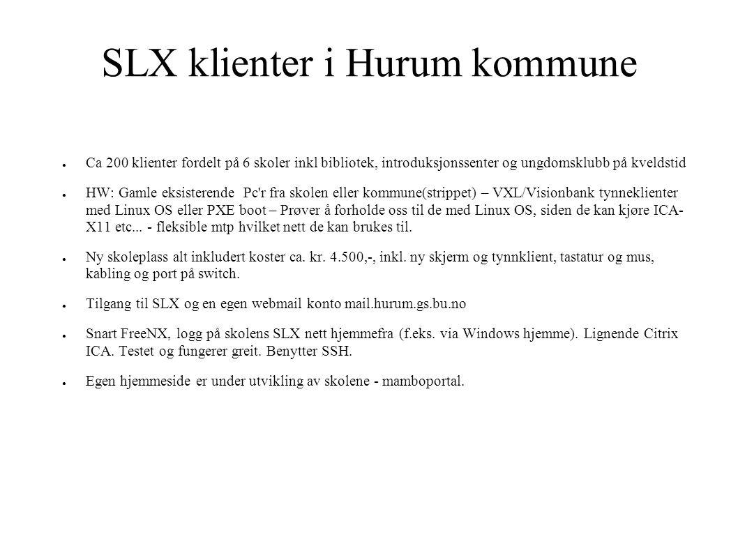 SLX klienter i Hurum kommune