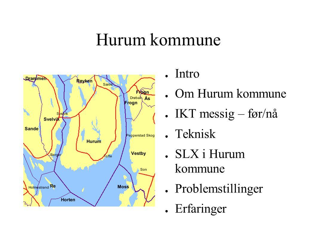 Hurum kommune Intro Om Hurum kommune IKT messig – før/nå Teknisk