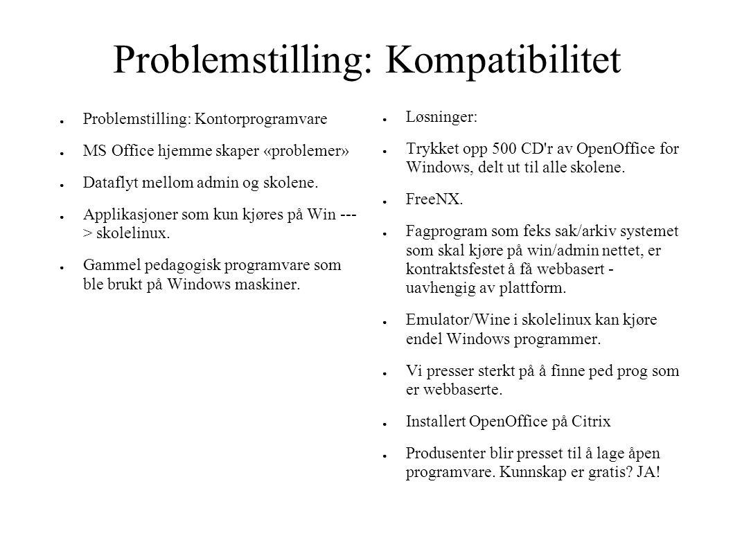 Problemstilling: Kompatibilitet