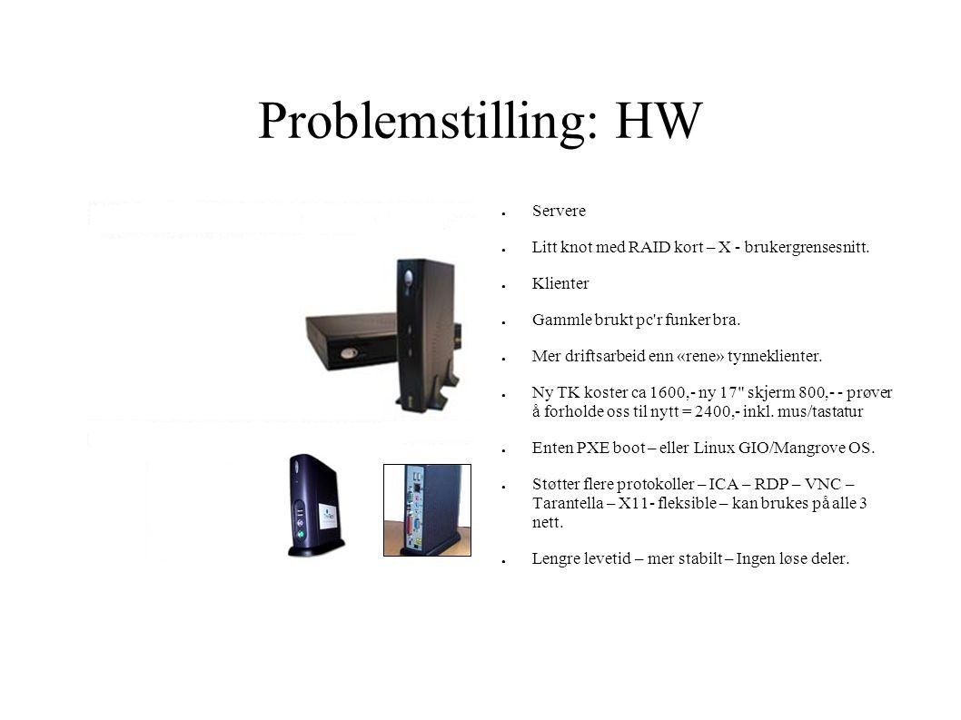 Problemstilling: HW Servere