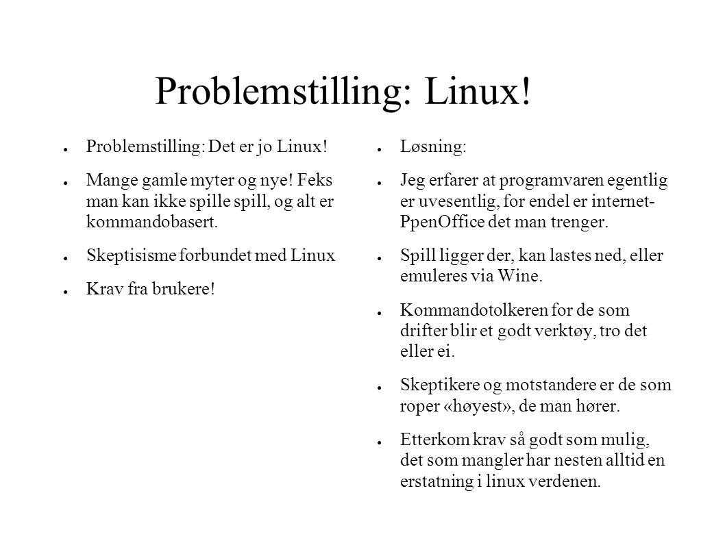 Problemstilling: Linux!