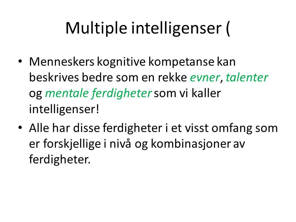 Multiple intelligenser (