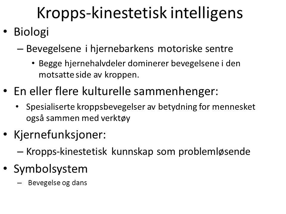 Kropps-kinestetisk intelligens