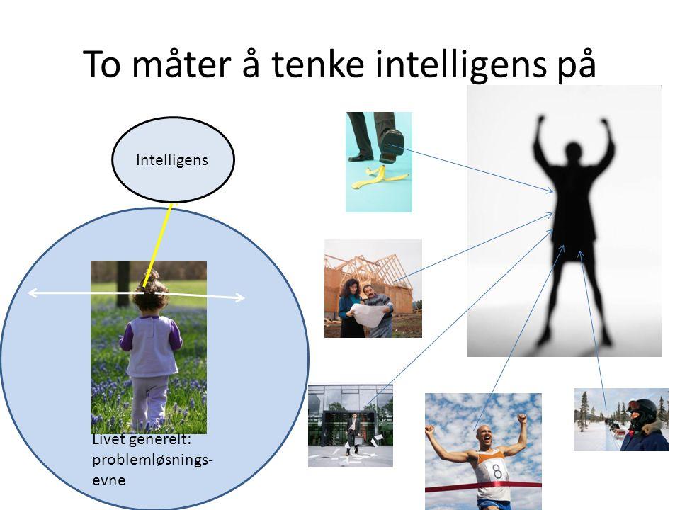To måter å tenke intelligens på