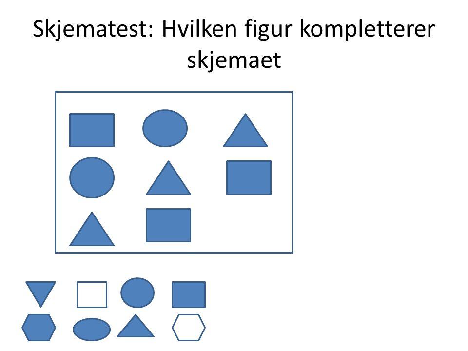 Skjematest: Hvilken figur kompletterer skjemaet