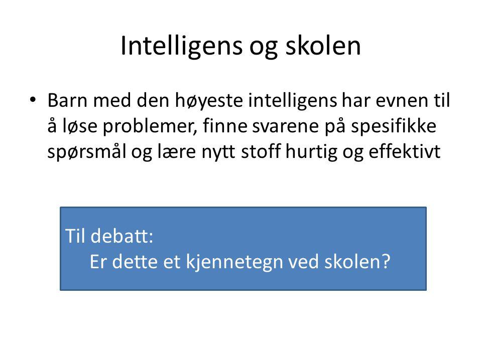 Intelligens og skolen