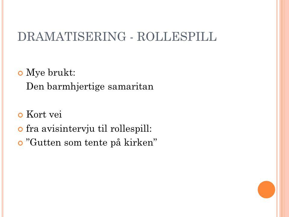 DRAMATISERING - ROLLESPILL