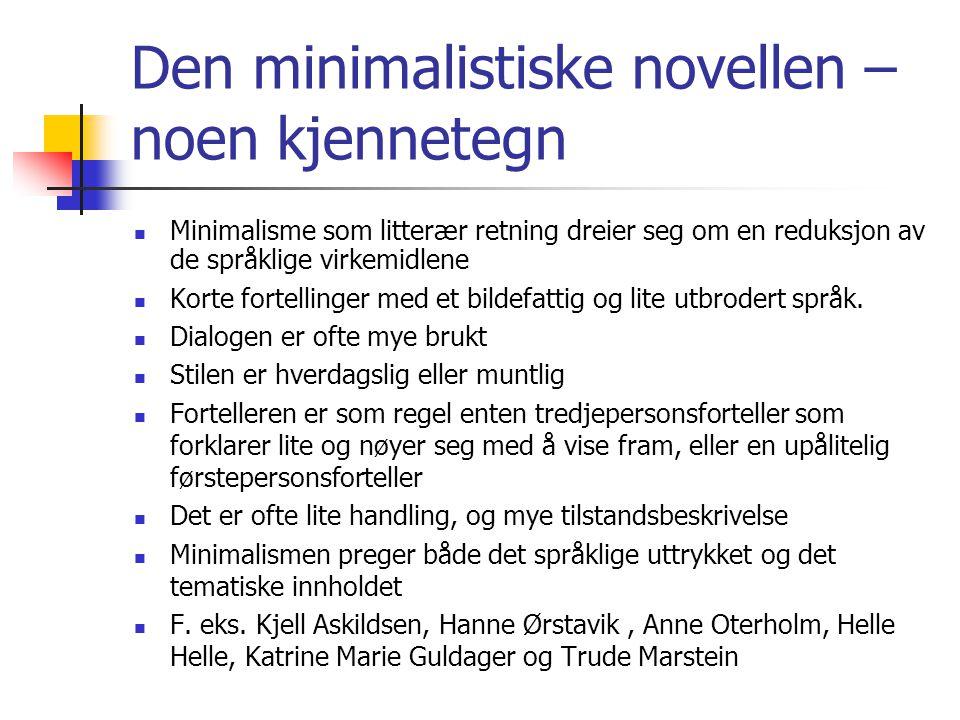 Den minimalistiske novellen – noen kjennetegn