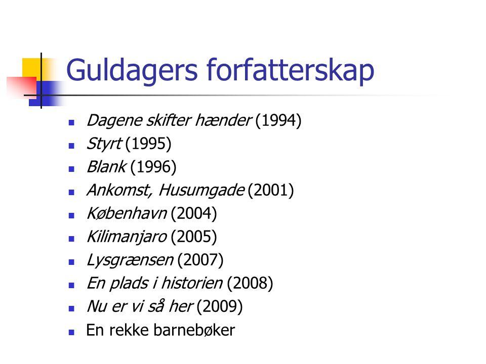 Guldagers forfatterskap
