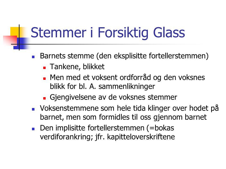 Stemmer i Forsiktig Glass