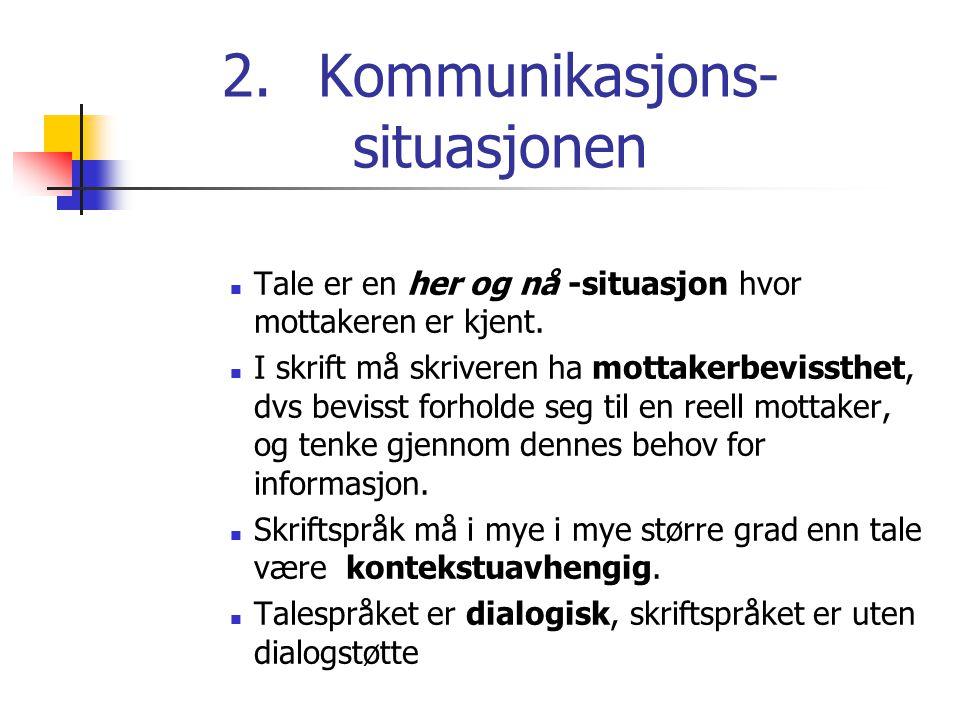 2. Kommunikasjons- situasjonen
