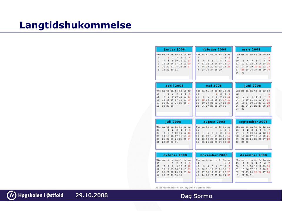 Langtidshukommelse 29.10.2008 Dag Sørmo