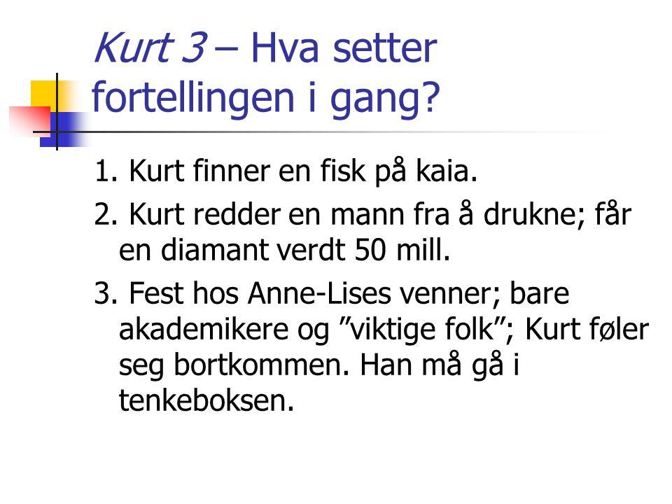 Kurt 3 – Hva setter fortellingen i gang