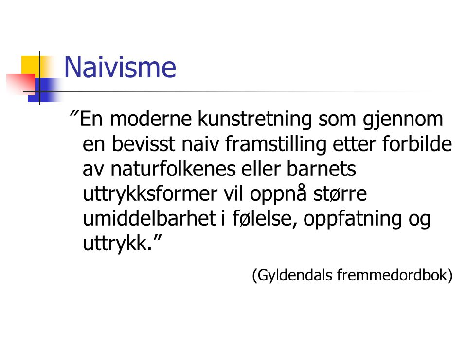 Naivisme
